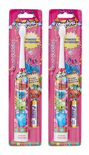 Brush Buddies Shopkins Sonic Powered Toothbrush, 0.15 Pound (2 Pack)