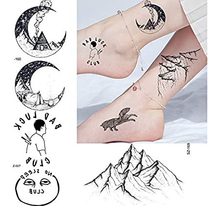 yyyDL tatuajes temporales Moda creativa Luna Hombres Brazo Tatuaje ...