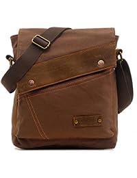 Messenger Bag,Vintage Canvas Shoulder Crossbody Bag for Everyday Use