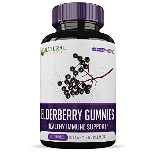 Elderberry Gummies (60 Count) - New & Improved Premium Formula - All-Natural Ingredients - Boost Immune System Health - One Month Supply - Natural Pathway
