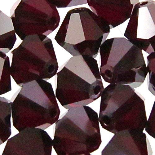 (36 pcs Swarovski Crystal Bicone 5301 Beads, Garnet Satin, 4mm)