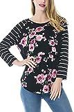 Elly Sily Women's Nursing Tops Breastfeeding Shirt Nursing Clothes (Black,L)