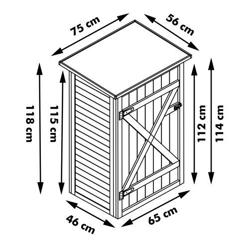 Habau 3103 Armoire de jardin avec toit plat: Amazon.fr: Jardin