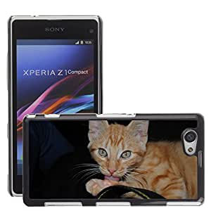 Super Stella Slim PC Hard Case Cover Skin Armor Shell Protection // M00149959 Cat Animal Cat Face // Sony Xepria Z1 Compact D5503