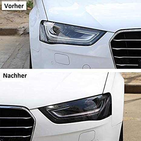 1a Style Sticker Hell Schwarz Auto Scheinwerfer Folie Folierung Frontscheinwerfer 200cm Us Rückscheinwerfer Tuningfolie Tönung Auto