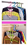 clothes hanger lifter - Multifunctional Clothes Hanger 3 Layer Anti-skid Plastic Clothes Rack of Fishbone Wardrobe Clothes Hanging