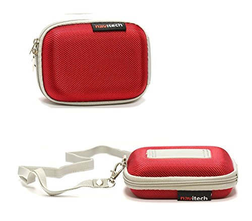 Navitech Red Hard Protective Earphone/Headphone Case Compatible with The Sennheiser MX 686G Sports