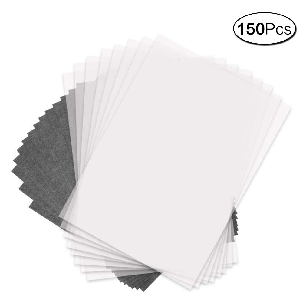 150 Pcs Set Tracing Paper And Carbon Graphite Paper for Wood Burning Transfer Wood Carving And Tracing