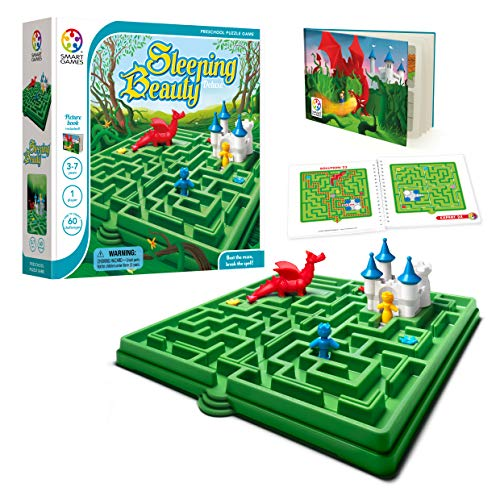 SmartGames Sleeping Beauty Board Game, A Preschool Puzzle Game & Brain Game for Kids, Cognitive Skill-Building Challenges, Ages - Sleeping Castle Beauty