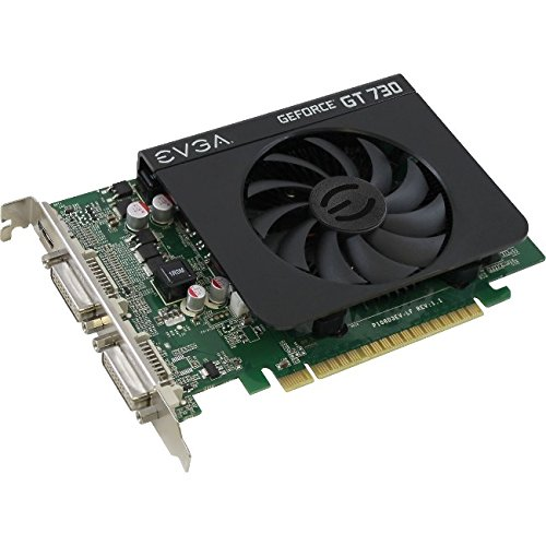 EVGA GeForce GT 730 4GB DDR3 128bit Dual DVI mHDMI Graphics Cards 04G-P3-2739-KR