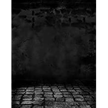 Stone Floor Black Wall Photography Backdrops Photo Props Studio Background 5x7ft