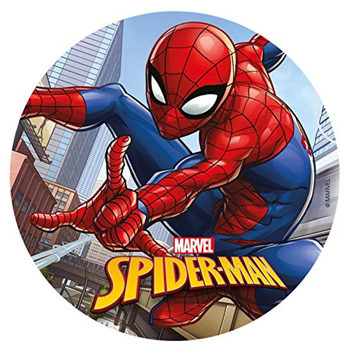 Spiderman Edible Image Cake Topper Wafer Disc 8''