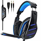 PS4 xbox one PC Gaming Headset with mic , LED over ear headphones and Professional Noise Isolation for Cooler Gaming and Multimedia compatible with Laptop