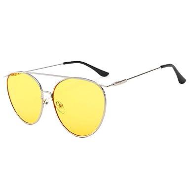 ANAZOZ Gafas de Sol Lente Amarillo Gafas Sol Mujer UV400 ...