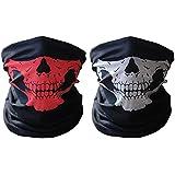 HAMIST Couples Seamless Skull Face Tube Mask Black&Red