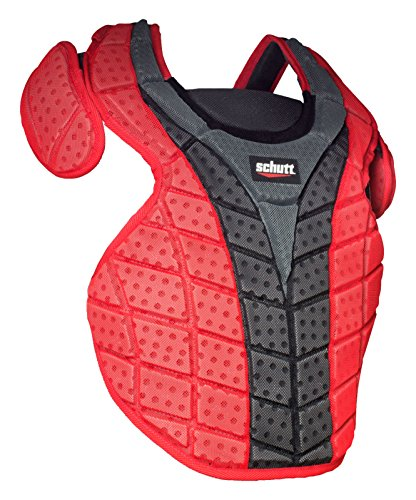 Schutt Sports Reversible S3.5 Chest Protector, Black/Scarlet, 16'' by Schutt