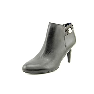 Womens VELESIA Leather Closed Toe Platform Boots