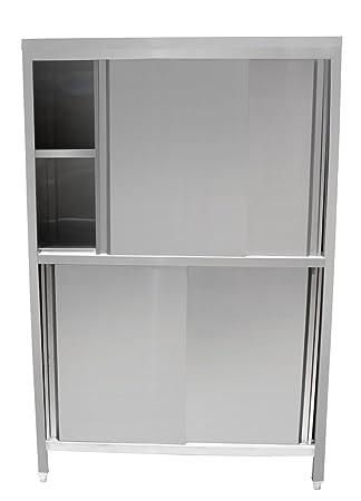 Amazon.de: Beeketal \'BHV180\' Gastro Küchenschrank mit 2 Schiebetüren ...