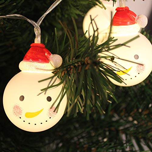 Snowman Head Christmas Outdoor Light Light Post in US - 4