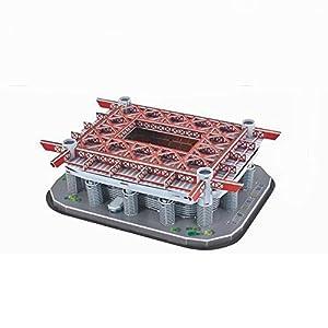 Wanson Stereo Building Bambini Calcio Modello Puzzle Fai Da Te Stadio Milan Calcio Campo Da Calcio Costruzione Coppa Del Mondo Giocattoli 3d Campo Di Calcio Regali Di Alta Qualit