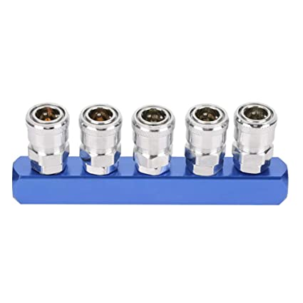 Akozon Enchufe de Acoplamiento Rápido para Mangueras de Compresor de Aire Neumático 12mm PT1 / 4(5 vías): Amazon.es: Industria, empresas y ciencia
