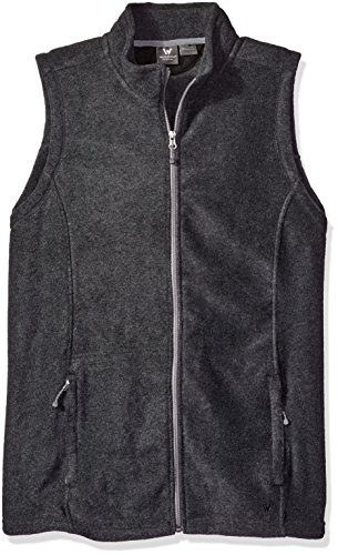 White Sierra Mountain Vest   Extended Sizes  Charcoal Heather  3X