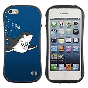 Suave TPU GEL Carcasa Funda Silicona Blando Estuche Caso de protección (para) Apple Iphone 5 / 5S / CECELL Phone case / / Killer Whale Cartoon Drawing Shark Teeth Cute /