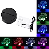 3D Fashion Creative Visual Effect Touch Control Switch Home Hotel Party Decor Kids Adults Desk Night Light Decoration LED Lamp tueselesoleil