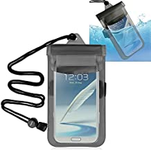 Everydaysource Clear Black Waterproof Underwater Pouch Dry Bag Pack Case For LG google nexus 5x, Nexus 6p, Apple iPhone 7/ 7 Plus/ 6S/ 6S Plus, Samsung Galaxy S7 Edge/ S7/ S6/ S6 Edge/ Note 4