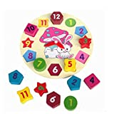 Little star Wooden blocks toys Digital Geometry Teaching Clock Children's Educational toy for baby boy and girl gift