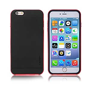 TORIBY iPhone 6 Plus Case, Clear Scratch Resistant Case Cover With Screen Protector for Apple iPhone 6 Plus 5.5 Inch (Red Border)