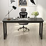 "Tribesigns Computer Desk, 63"" Large Office Desk Computer Table Study Writing Desk for Home Office, Black"