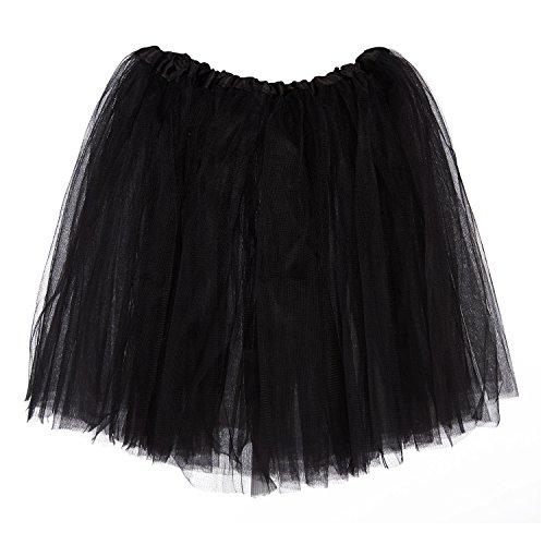 My Lello Big Girls Tutu 3-Layer Ballerina (4T-10yr) Black