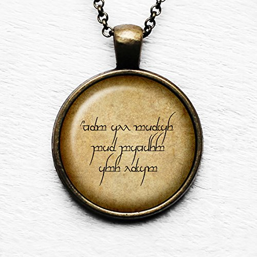 J.R.R. Tolkien Not all those who wander are lost. Elven Runes Pendant & Necklace