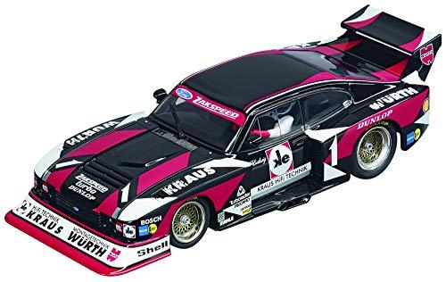 - Carrera USA 20027561 Ford Capri Turbo Würth-Kraus-Zakspeed Team, No.01 Evolution Analog Slot Car Racing Vehicle 1:32 Scale, Black
