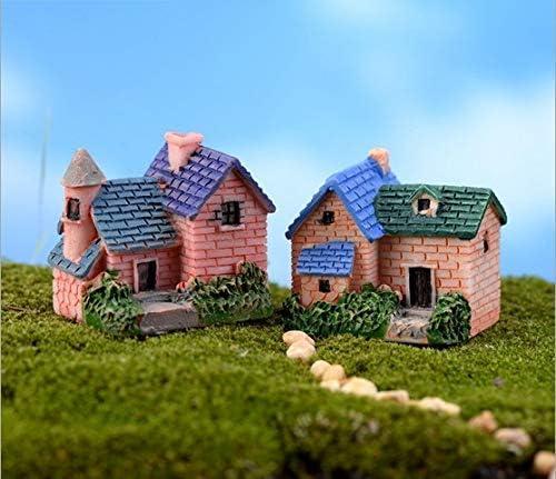 JoyRolly Musgo Micro Paisaje Miniatura Jardín de Hadas Figura de Casa de Campo ldyllico Micro Paisaje Plantas Ornamentos casa de muñecas DIY Accesorios jardín decoración del hogar: Amazon.es: Hogar