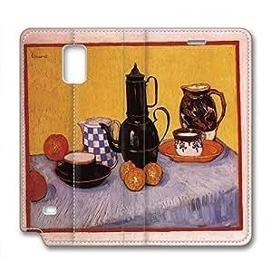 Vincent Van Gogh Design Leather Case for Samsung Note 4 Table Piece