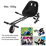 Big Wheel Go Kart Conversion Kit for Hoverboards - Length Adjustable Shock Absorber Go Kart Hover Seat HoverKart For Swegway Hoverboard Accessories Electric Scooter fit All Heights All Ages