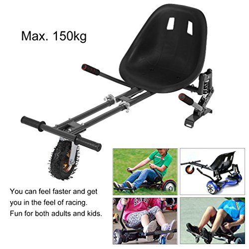 Big Wheel Go Kart Conversion Kit for Hoverboards - Length Adjustable Shock Absorber Go Kart Hover Seat HoverKart For Swegway Hoverboard Accessories Electric Scooter fit All Heights All Ages by Happystore999