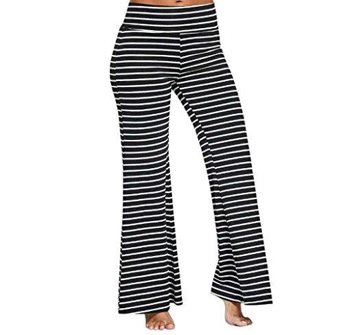 Larghi Tempo Grazioso Pants Libero Moda Donna Giovane Waist Elegante Primaverile Pantaloni Autunno Colpo Pantaloni Women High Stripe Casual Pantaloni Nero xZaPRwq