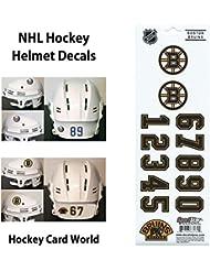 (HCW) Boston Bruins SportsStar NHL Hockey Helmet Decals Sticker Sheet