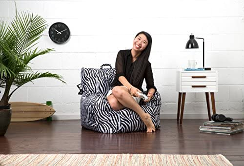 home, kitchen, furniture, game, recreation room furniture,  bean bags 7 on sale Big Joe Dorm Bean Bag Chair, Zebra promotion