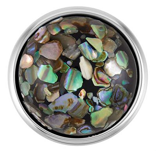 Ginger Snaps BLACK FLECKED ABALONE SN09-24 (Standard Size) Interchangeable Jewelry Snap Accessory
