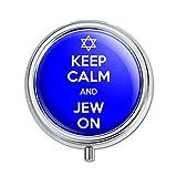 Keep Calm And Jew On Jewish Pill Case Trinket Gift Box