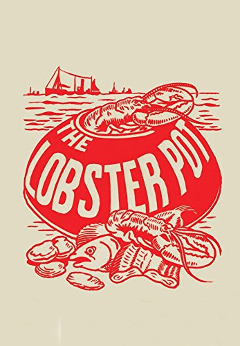 Entrada Fine Art Natural - The Lobster Pot 1960s Vintage Menu Art Archival Print