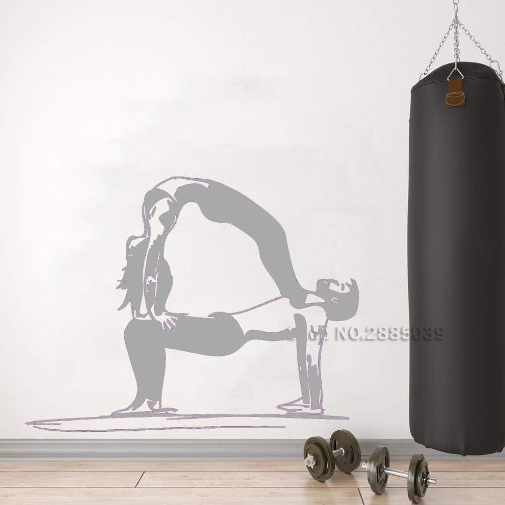 guijiumai Yoga Pareja Vinilo Etiqueta de la Pared Estilo de Vida ...
