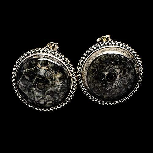 Ana Silver Co Pinolith Jasper Earrings 1 1/8