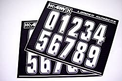 HK Army Paintball Loader Number Stickers - White