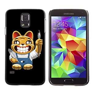 Licase Hard Protective Case Skin Cover for Samsung Galaxy S5 - Funny Cat wangjiang maoyi
