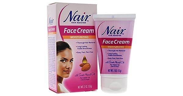 Amazon.com: Crema depiladora facial hidratante Nair, 2 onzas ...